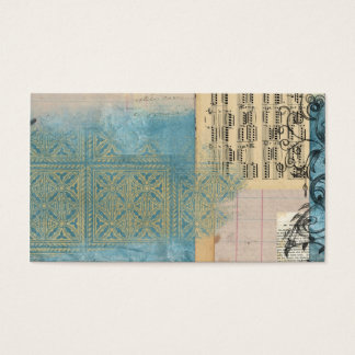 Music and Pattern Collage Business Card