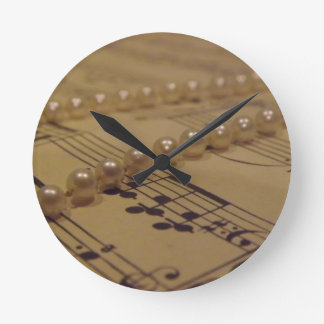 Music And Pearls Clock