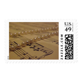 Music And Pearls Postage Stamp