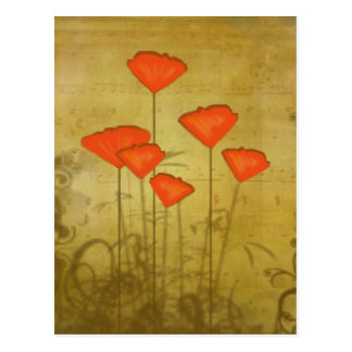 Music and Poppies Postcard