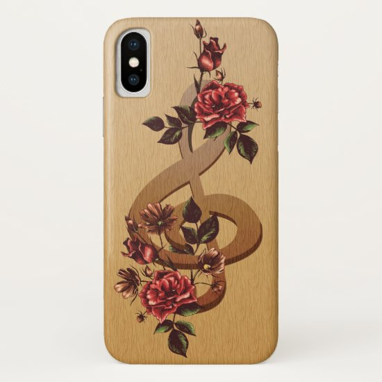 Music and Roses iPhone XS Case