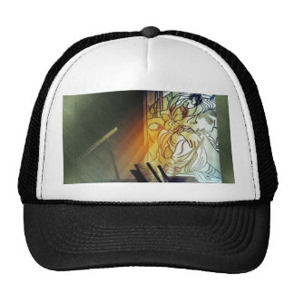 Music and Stained Glass Cap Trucker Hat