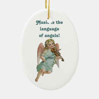 Music Angel Ornament With Poem