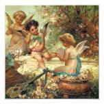 Music Angels by Hans Zatzka, Victorian Art Custom Announcements