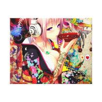 Music Anime Girl Canvas Print