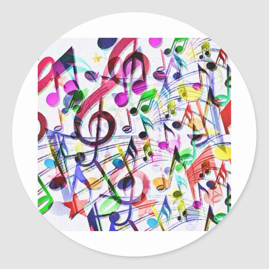 Music Apprecition_ Classic Round Sticker