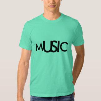 Music Aquamarine Simple Logo Design Shirts