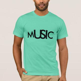 Music Aquamarine Simple Logo Design T-Shirt