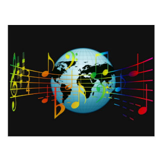 Music Around the World Postcard