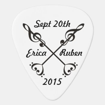 Music Arrow Crossing Guitar Pick by LLChemis_Creations at Zazzle