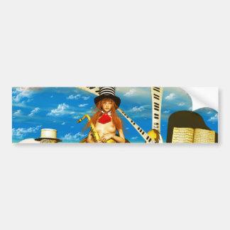 Music Art  guitar piano Car Bumper Sticker