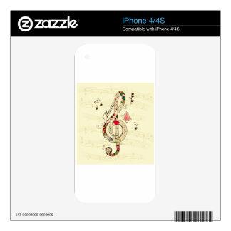 Music Art iPhone 4S Decals