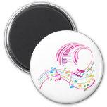 Music Art Refrigerator Magnets
