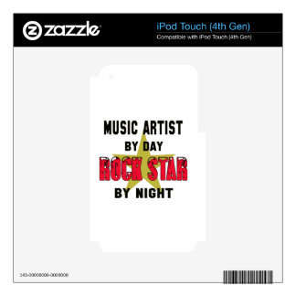 Music artist by Day rockstar by night Decals For iPod Touch 4G
