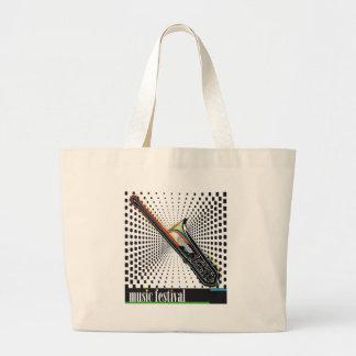 Music Artwork. Large Tote Bag