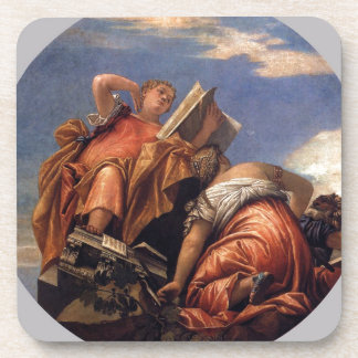 Music, Astronomy and Deceit by Paolo Veronese Beverage Coaster