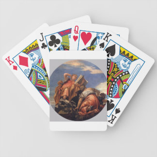Music, Astronomy and Deceit by Paolo Veronese Bicycle Playing Cards