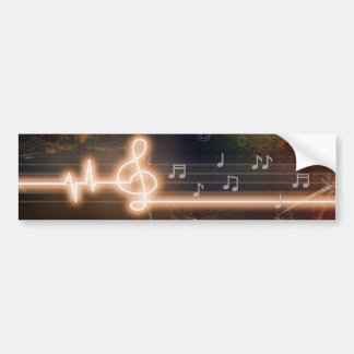Music at Heart Bumper Sticker