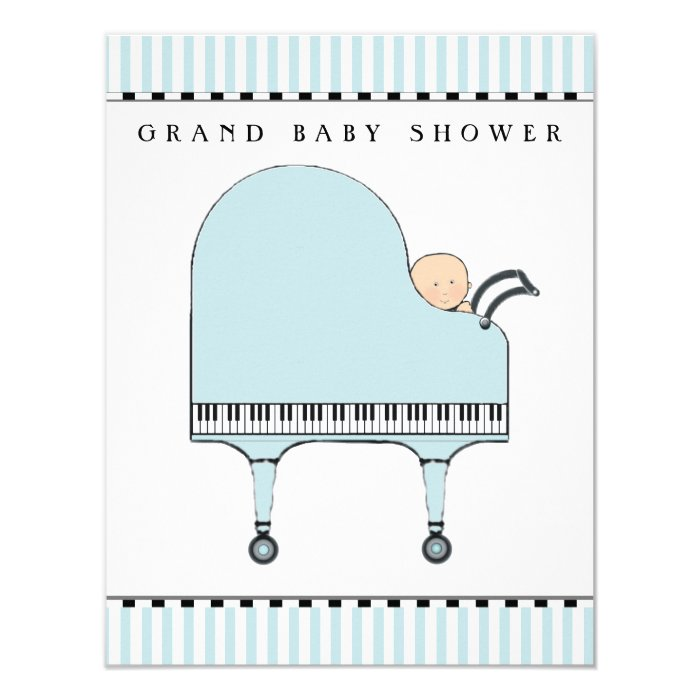 music baby shower invitations zazzle