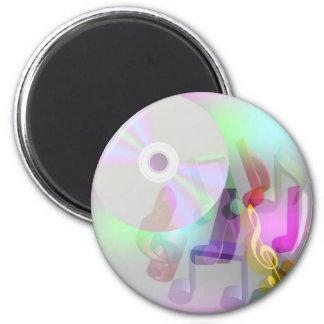Music Background 2 Inch Round Magnet