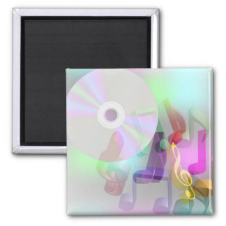 Music Background 2 Inch Square Magnet