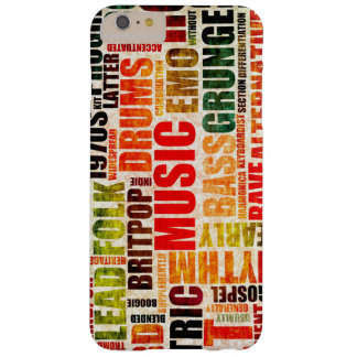 Music Background With Different Genres and Types Barely There iPhone 6 Plus Case
