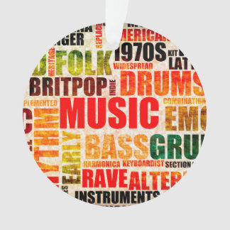 Music Background With Different Genres and Types Ornament