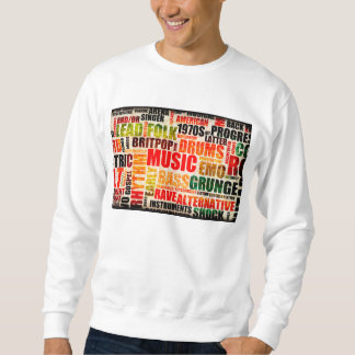 Music Background With Different Genres and Types Sweatshirt