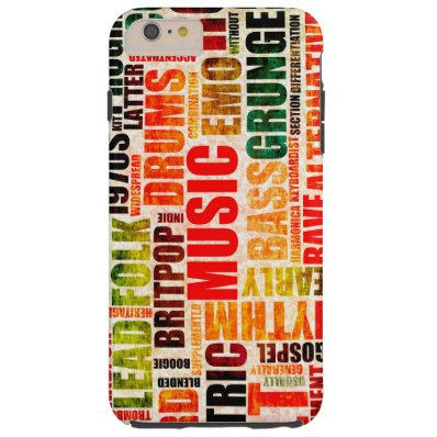 Music Background With Different Genres and Types Tough iPhone 6 Plus Case