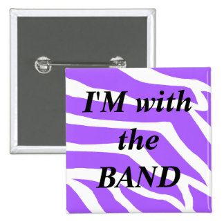 Music Band 2 Inch Square Button