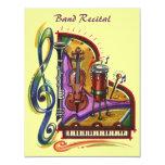"Music Band Instruments Recital Or Party INVITATION 4.25"" X 5.5"" Invitation Card"