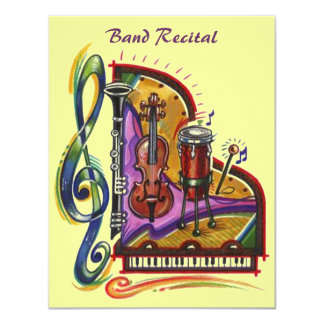 Music Band Instruments Recital Or Party INVITATION