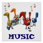 Music Band Poster 15x15