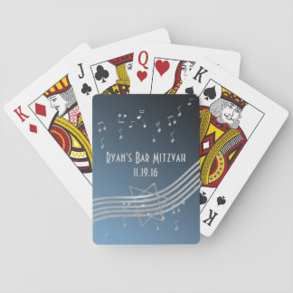 Music Bar Mitzvah Playing Cards