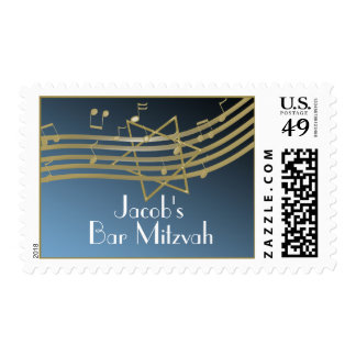 Music Bar Mitzvah Postage