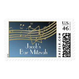 Music Bar Mitzvah Stamps