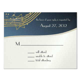 Music Bar Mitzvah Response Card