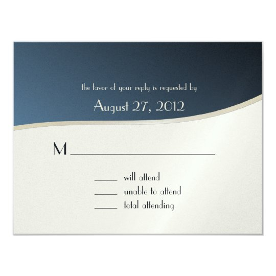 Music Bar Mitzvah/ Response Card