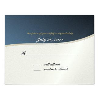 "Music Bar Mitzvah/ Response Card 4.25"" X 5.5"" Invitation Card"