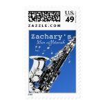Music Bar Mitzvah Saxophone Postage