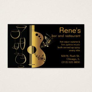 music bar restaurant business card