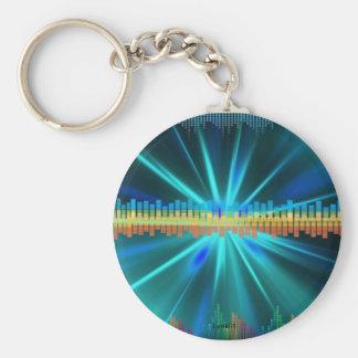 Music bars basic round button keychain