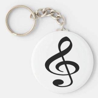 Music Basic Round Button Keychain