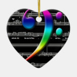 Music Bass Clef Rainbow Gifts Christmas Ornament
