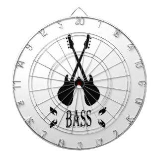 Music Bass Silhouette Dart Boards