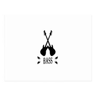 Music Bass Silhouette Postcard