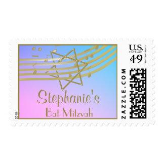 Music Bat Mitzvah Postage Stamp