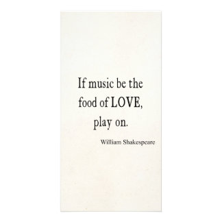 Music Be the Food of Love Shakespeare Quote Quotes Photo Card