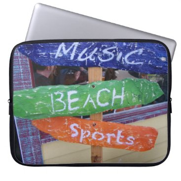 Beach Themed Music, Beach, Sports Laptop Sleeve! Computer Sleeve