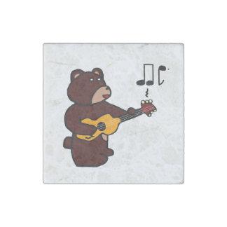 Music Bear Stone Magnet